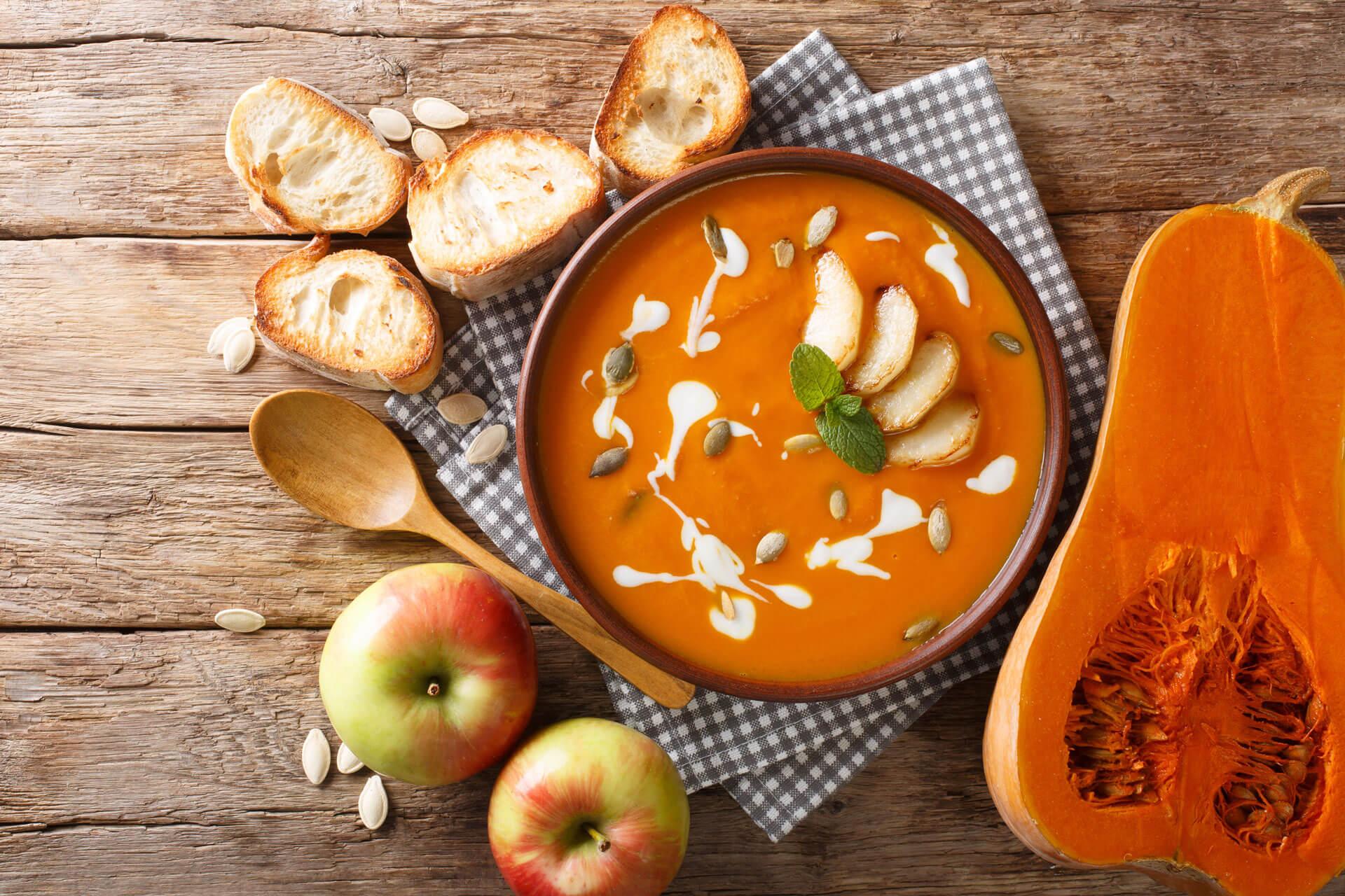 Butternut Kürbis Suppe
